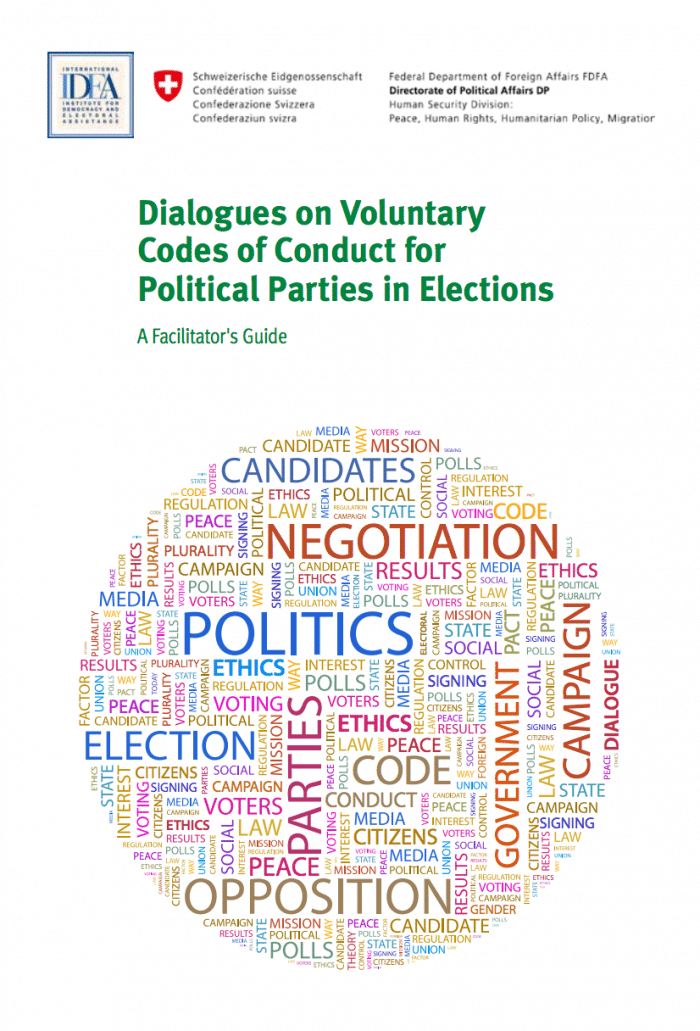 Dialogues on Voluntary Codes of Conduct for Political Parties in Elections