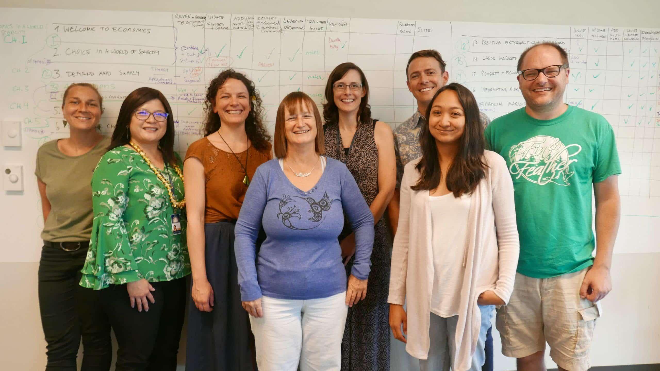 Authors and facilitators of the UH Microeconomics textbook