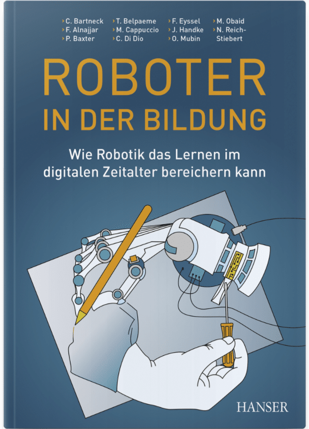 Book cover of a book on Robotics in Education, with the German title Roboter in der Bildung.